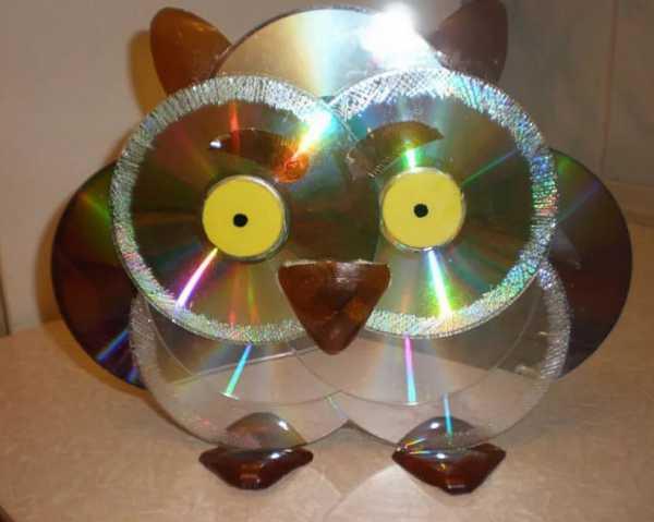 Поделки мастер класс из компьютерных дисков