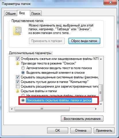 Как отобразить скрытые файлы в 23
