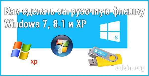 Windows 7 как сделать загрузочную флешку