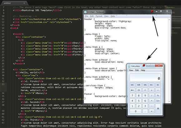 Как сделать окно для html 184