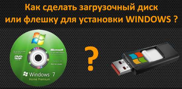 Как сделать загрузочный диск на флешку с windows 7