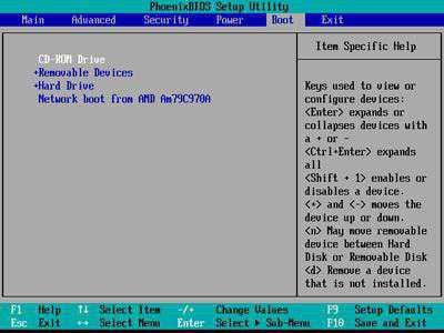 В биосе посмотреть параметры компьютера